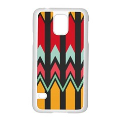 Waves And Other Shapes Pattern			samsung Galaxy S5 Case (white) by LalyLauraFLM