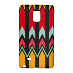 Waves And Other Shapes Pattern			samsung Galaxy Note Edge Hardshell Case by LalyLauraFLM