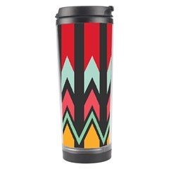 Waves And Other Shapes Pattern Travel Tumbler by LalyLauraFLM
