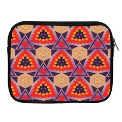 Triangles Honeycombs And Other Shapes Pattern			apple Ipad 2/3/4 Zipper Case by LalyLauraFLM