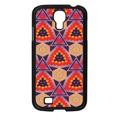 Triangles Honeycombs And Other Shapes Pattern			samsung Galaxy S4 I9500/ I9505 Case (black) by LalyLauraFLM