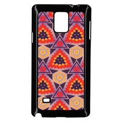 Triangles Honeycombs And Other Shapes Pattern			samsung Galaxy Note 4 Case (black) by LalyLauraFLM
