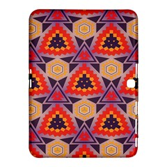 Triangles Honeycombs And Other Shapes Pattern			samsung Galaxy Tab 4 (10 1 ) Hardshell Case by LalyLauraFLM