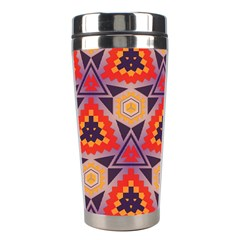 Triangles Honeycombs And Other Shapes Pattern Stainless Steel Travel Tumbler