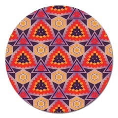 Triangles Honeycombs And Other Shapes Pattern			magnet 5  (round) by LalyLauraFLM