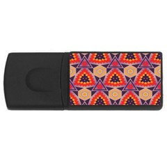 Triangles Honeycombs And Other Shapes Pattern			usb Flash Drive Rectangular (4 Gb)
