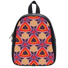 Triangles Honeycombs And Other Shapes Pattern			school Bag (small) by LalyLauraFLM