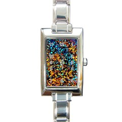 Colorful Seashell Beach Sand, Rectangle Italian Charm Watches