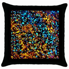 Colorful Seashell Beach Sand, Throw Pillow Cases (black) by Costasonlineshop