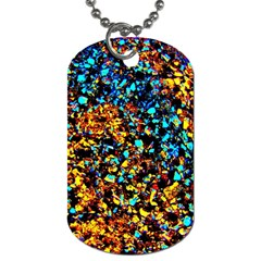 Colorful Seashell Beach Sand, Dog Tag (one Side)