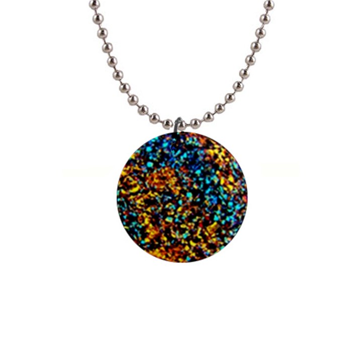 Colorful Seashell Beach Sand, Button Necklaces