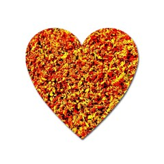 Orange Yellow  Saw Chips Heart Magnet by Costasonlineshop
