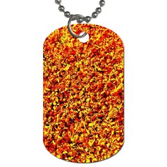 Orange Yellow  Saw Chips Dog Tag (two Sides)