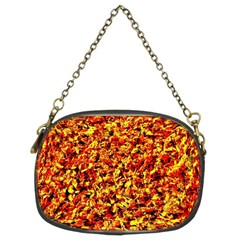Orange Yellow  Saw Chips Chain Purses (two Sides)