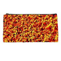 Orange Yellow  Saw Chips Pencil Cases by Costasonlineshop