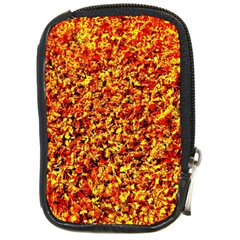 Orange Yellow  Saw Chips Compact Camera Cases