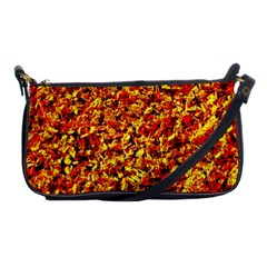 Orange Yellow  Saw Chips Shoulder Clutch Bags