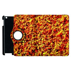 Orange Yellow  Saw Chips Apple Ipad 3/4 Flip 360 Case by Costasonlineshop