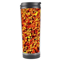 Orange Yellow  Saw Chips Travel Tumblers by Costasonlineshop