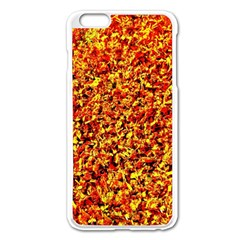 Orange Yellow  Saw Chips Apple Iphone 6 Plus/6s Plus Enamel White Case by Costasonlineshop