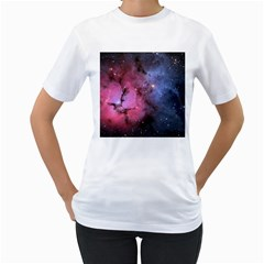 Trifid Nebula Women s T Shirt (white) (two Sided)