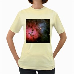 Trifid Nebula Women s Yellow T Shirt