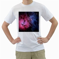 Trifid Nebula Men s T Shirt (white) (two Sided)