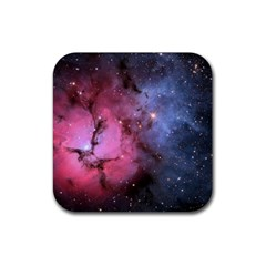 Trifid Nebula Rubber Square Coaster (4 Pack)  by trendistuff