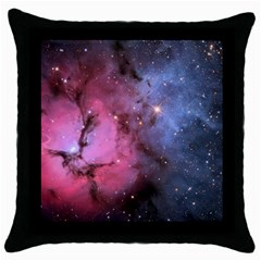 Trifid Nebula Throw Pillow Cases (black)