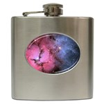 TRIFID NEBULA Hip Flask (6 oz) Front