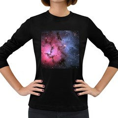 Trifid Nebula Women s Long Sleeve Dark T Shirts