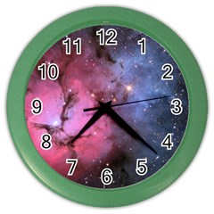 Trifid Nebula Color Wall Clocks