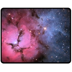 Trifid Nebula Fleece Blanket (medium)