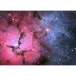 TRIFID NEBULA Peace Sign 3D Greeting Card (7x5)  Front