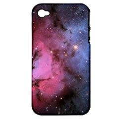 Trifid Nebula Apple Iphone 4/4s Hardshell Case (pc+silicone)