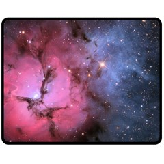 Trifid Nebula Double Sided Fleece Blanket (medium)