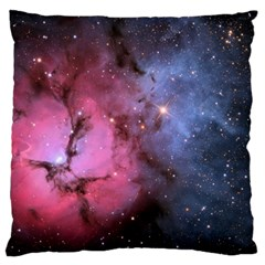 Trifid Nebula Large Flano Cushion Cases (one Side)  by trendistuff