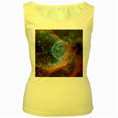 Thor s Helmet Women s Yellow Tank Tops