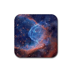 Thor s Helmet Rubber Square Coaster (4 Pack)