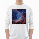 THOR S HELMET White Long Sleeve T-Shirts Front