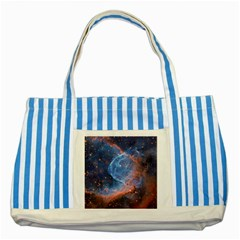 Thor s Helmet Striped Blue Tote Bag