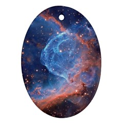 Thor s Helmet Oval Ornament (two Sides)