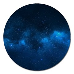 Starry Space Magnet 5  (round) by trendistuff