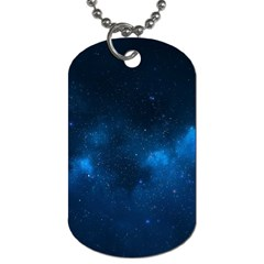 Starry Space Dog Tag (one Side)