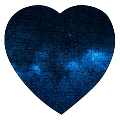 Starry Space Jigsaw Puzzle (heart)