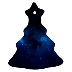 Starry Space Christmas Tree Ornament (2 Sides)