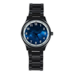 Starry Space Stainless Steel Round Watches