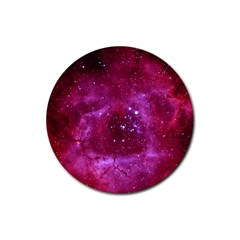 Rosette Nebula 1 Rubber Round Coaster (4 Pack)  by trendistuff