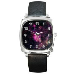 Purple Clouds Square Metal Watches by trendistuff