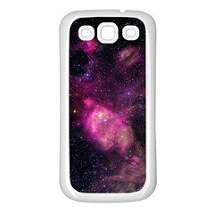 Purple Clouds Samsung Galaxy S3 Back Case (white) by trendistuff